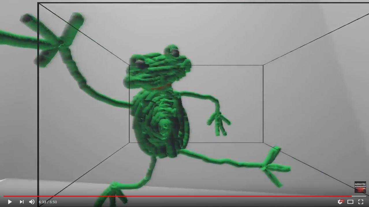 Frog painted in 3D | Oculus DK2