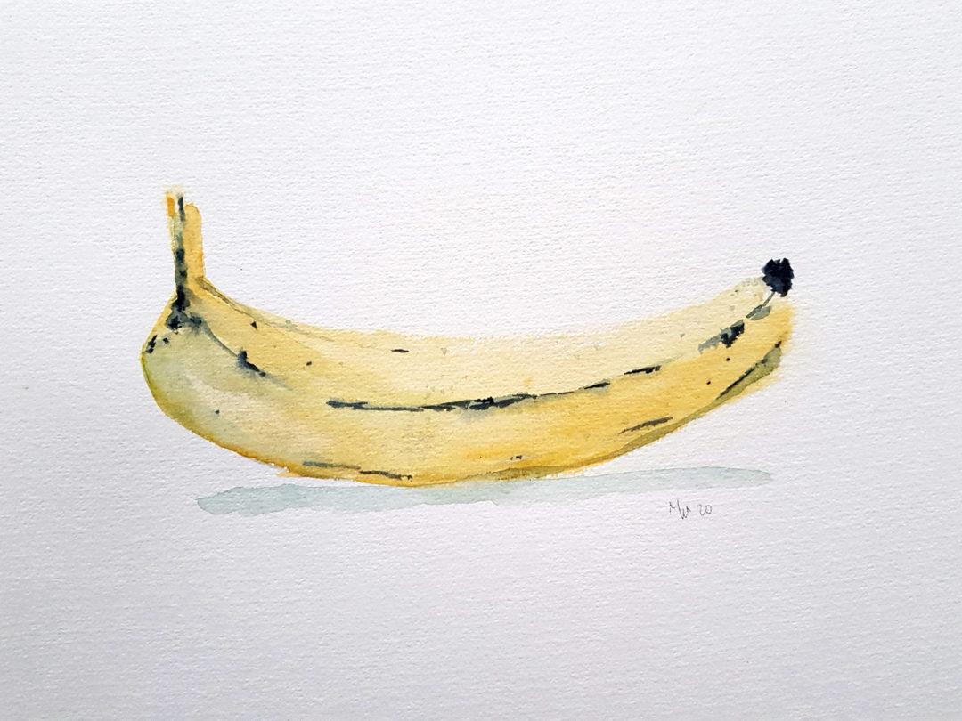 Banana Watercolor 02